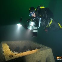 Artificial reef diver