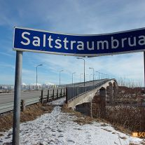 Saltstraumen Bridge Sign