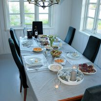 Dinner Table in Villa Balstad