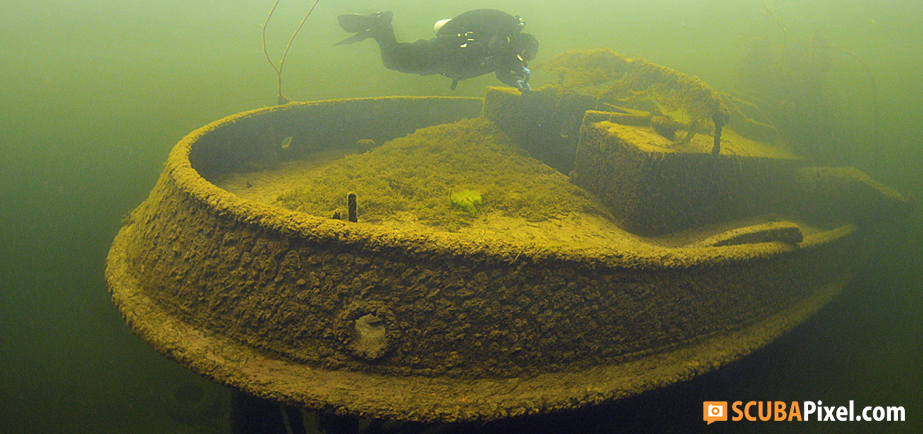 Tugboat wreck SS Dølen, Minnesund, Norway